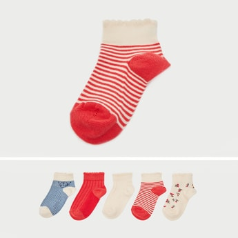 Set of 5 - Ankle Length Fashion Socks