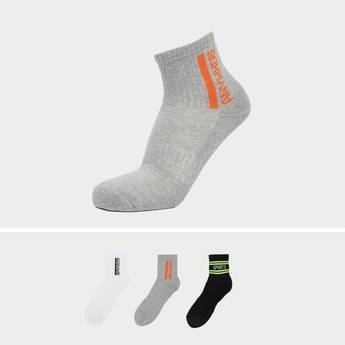 Set of 3 - Stripe Detail Crew Length Socks