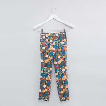 Printed Full Length Pants with Tassels