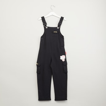 Knit Dungaree with Flap Pockets
