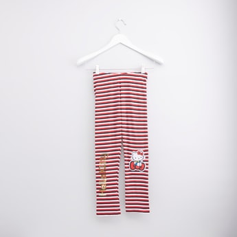 Hello Kitty Striped Leggings with Elasticised Waistband