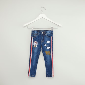 Hello Kitty Side Striped Denim Trousers