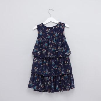 Floral Printed Ruffle Detail Dress