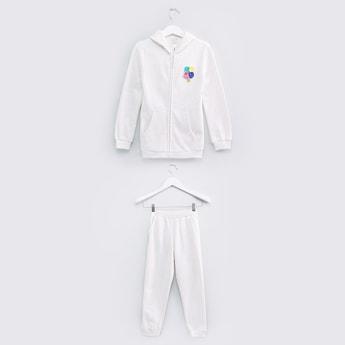 Embellished Jacket with Jog Pants