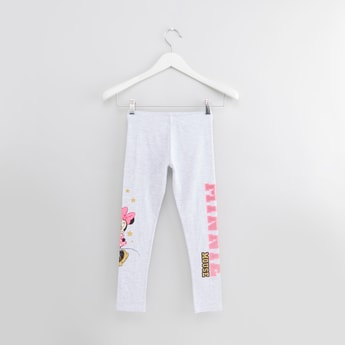 Full Length Minnie Mouse Printed Legging with Elasticated Waistband
