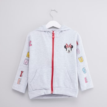 Minnie Mouse Printed Hoodie with Pockets