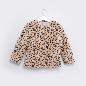 Animal Printed Jacket with Long Sleeves