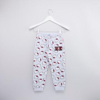 Hello Kitty Printed Jog Pants with Elasticised Waistband