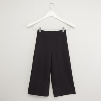 Solid Pants with Side Tape Detail