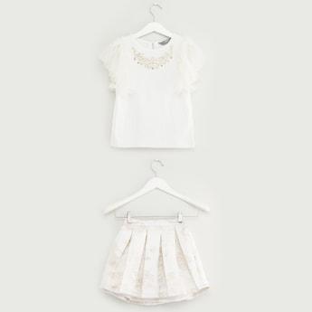 Jacquard Top and Skirt Set