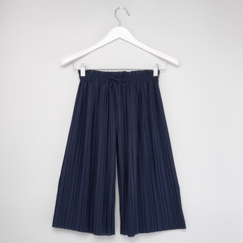 Pleated Culottes with Elasticised Waistband