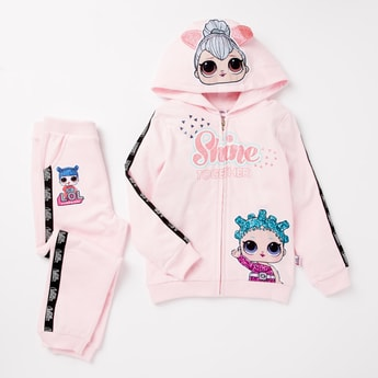 L.O.L. Surprise! Hooded Jacket and Full Length Joggers Set