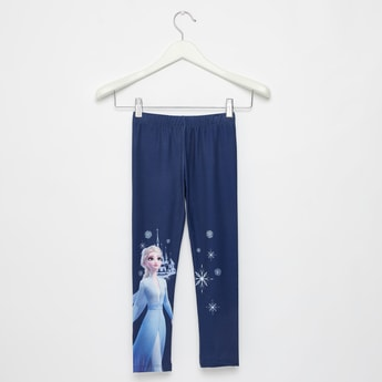 Full Length Elsa Print Leggings with Elasticated Waist