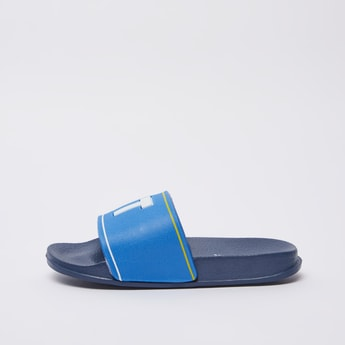Textured Slides with Embossed Vamp Band