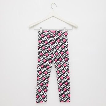 Full Length Printed Leggings with Elasticated Waistband