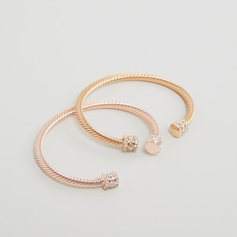 Set of 2 - Studded Cuff Bangle