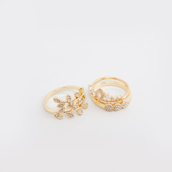 Set of 3 - Studded Finger Rings