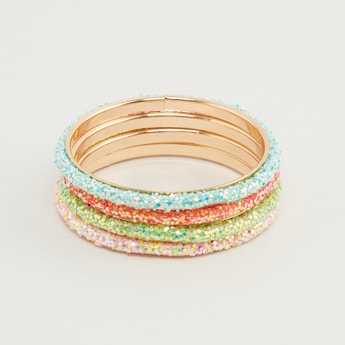 Set of 4 - Embellished Bangles