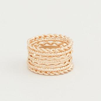 Set of 8 - Twisted Metal Rings