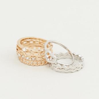 Set of 6 - Embellished Finger Rings