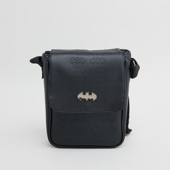 Batman Textured Messenger Bag with Adjustable Strap