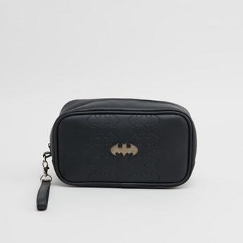 Batman Textured Rectangular Pouch with Zip Closure