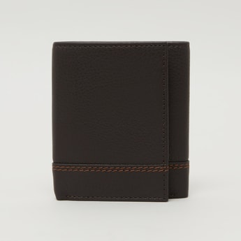 Stitch Detail Tri Fold Wallet