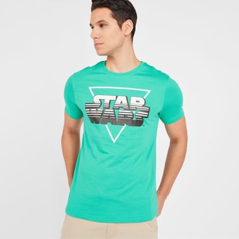 Star Wars Print T-shirt with Short Sleeves