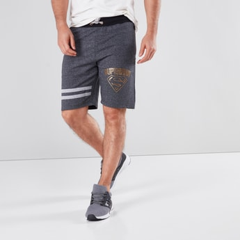 Superman Printed Shorts with 3-Pockets