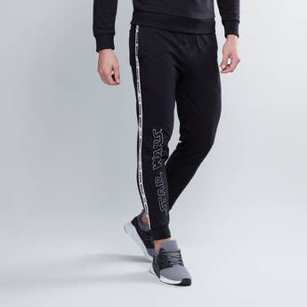 Slim Fit Star Wars Printed Mid Waist Jog Pants