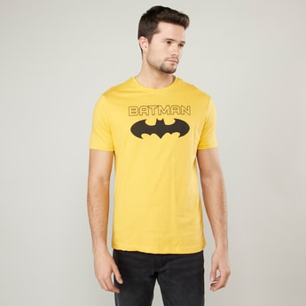 Batman Graphic Printed T-shirt with Short Sleeves