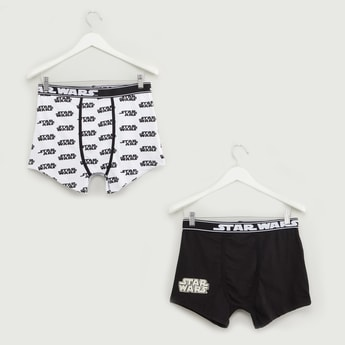 Set of 2 - Star Wars Print Trunks with Wide Elasticised Waistband