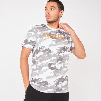 Avengers Camouflage Print T-shirt with Short Sleeves