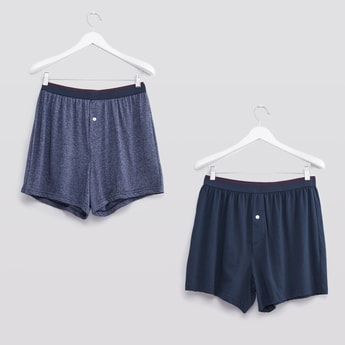 Set of 2 - Boxers with Contrast Waistband