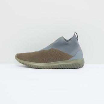 Mesh Detail Slip-On Shoes