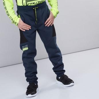 Printed Full Length Pants with Pocket Detail and Drawstring