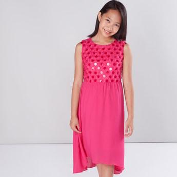 Sequin Detail Sleeveless Dress