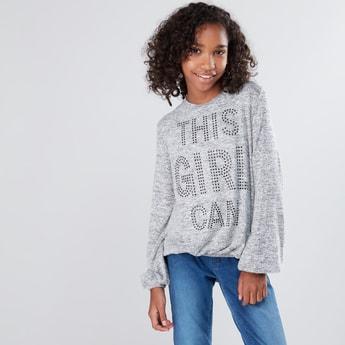 Embellished Long Sleeves Sweater