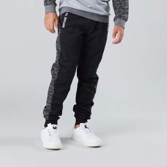 Printed Joggers with Drawstring Waistband and Pockets