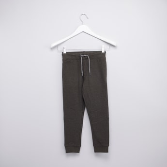 Pique Knit Panelled Jogger Pants with Pockets