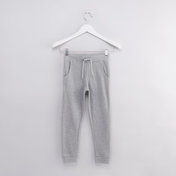 Textured Joggers with Pocket Detail and Drawstring Closure