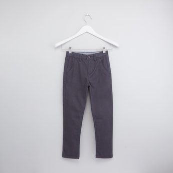 Full Length Chinos with Pocket Detail and Belt Loops