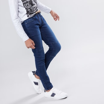 Full Length Jeans with 5-Pockets and Drawstring Closure