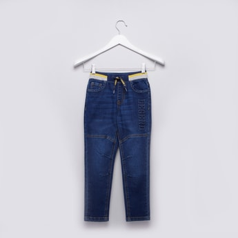 Textured Jegging with Pocket Detail and Elasticised Waistband