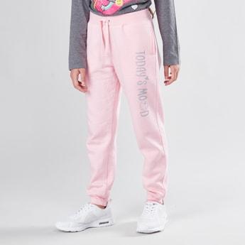 Basic Jogger Pants with Elasticated Drawstring Waistband