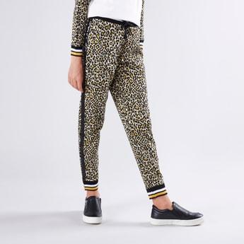 Animal Printed Jog Pants with Elasticised Waistband