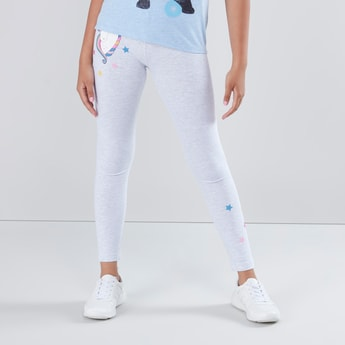 Unicorn Printed Leggings with Elasticised Waistband