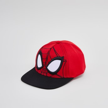 Spider-Man Embroidered Cap with Snap Button Closure