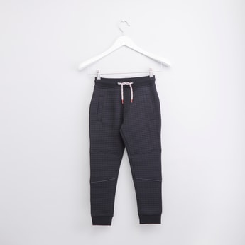 Quilted Jog Pants with Elasticated Drawstring Waistband