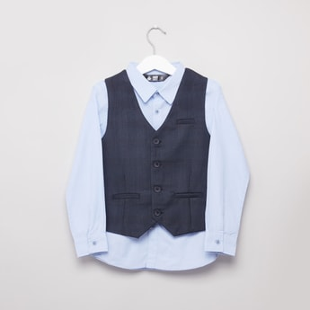 Plain Shirt and Trousers with Waistcoat